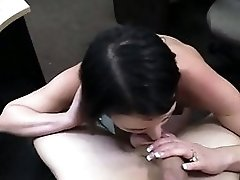 Customers wife fucked with horny pawn man in the backroom