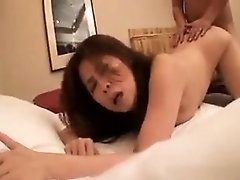 Buxom Japanese milf introduces herself to wild sex with a y