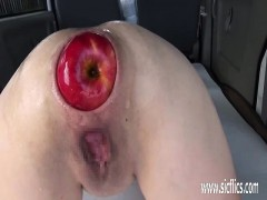 Extreme anal fisting and giant apple insertions