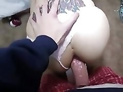 Amateur Girlfriend Gets Ass Fucked And Creampied