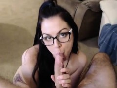 Nerdy Neighbor Blowjob on Webcam