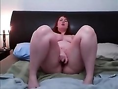 Sexy red head squirts on cam