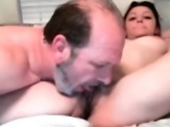 My dad like to riding her daughter very hard