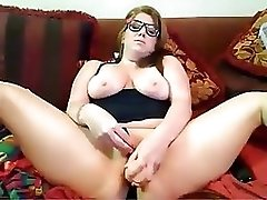 Chubby Girl  Masturbating To Orgasm